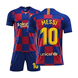 YANZZ Barcelona - Lionel Messi #10 Jersey Homme Football - Short SleeveSport Maillots T-Shirt C-M