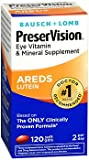 PreserVision Eye Vitamin and Mineral Supplement With Lutein - 120 Softgels, Pack of 5