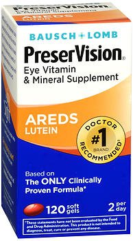 PreserVision Eye Vitamin and Mineral Supplement With Lutein - 120 Softgels, Pack of 6 by PreserVision