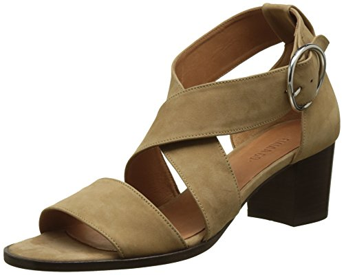Emma Go Women's Thelma Open Toe Sandals, Marron (Nubuck Tan), 7 UK