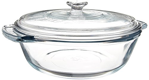 Dish Casserole Anchor Hocking (Anchor Hocking 2-Quart Oven Basics Casserole with Glass Cover, Set of 3)