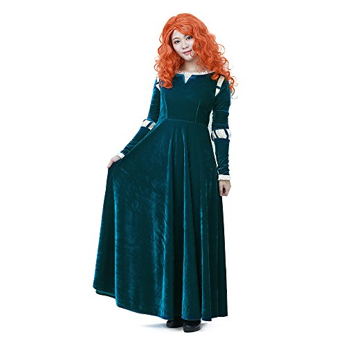 Miccostumes Women's Merida Adult Cosplay Costume (1X/2X) Blue/Green