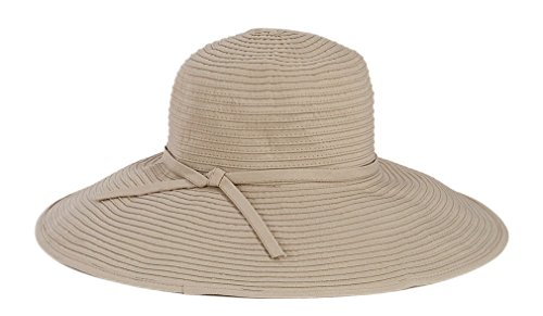 San Diego Hat Company Women's Ribbon Braid Large Brim Hat - Once Size, Taupe ()