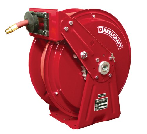 DP7850-OLP - Reelcraft 0.5'' x 50, 300 psi, Compact Air / Water Reel with Hose - 6261 by Reelcraft