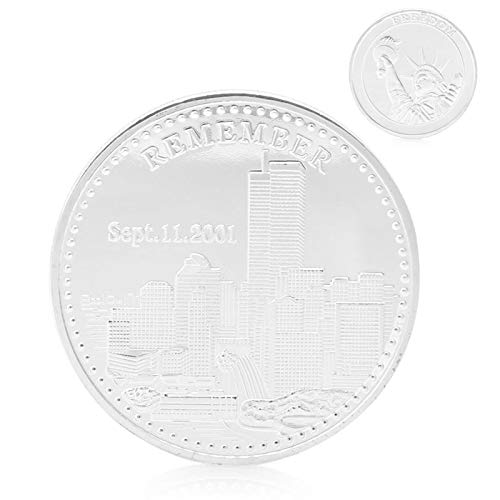 Coins Silver - Remember 09.11.2001 World Trade Center Freedom Silver Plated Commemorative Coin 1pc - Books Silver Holders Slab Guide 2019 Weekly Subscription World Coin Premier Making Grade Premi
