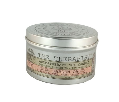 Soy 6 Oz Travel Tin - No. 07 Rose Garden Oasis Soy Candle - Travel Tin 6 oz