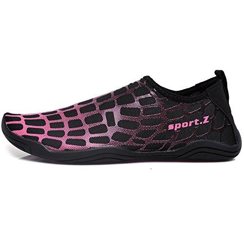 Water Quick Barefoot Drying Shoes Yoga Beach Aqua Surfing Pink Women Shoes GAXmi for Swimming Men wAI8qqT