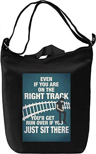 Right track Borsa Giornaliera Canvas Canvas Day Bag  100% Premium Cotton Canvas  DTG Printing 