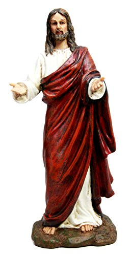 Roman Catholic Altar - Christian Divinity Passion of The Risen Christ Jesus With Open Arms Decorative Figurine 10