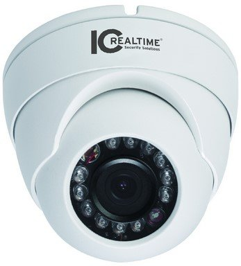 IC Realtime ICIP-D2000-IR Indoor/Outdoor Mini Orbital IR Dome IP Camera, 1/2.8