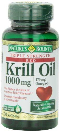 Bounty krill Max gélules, 30 comte Bouteille de Nature (Pack de 3)
