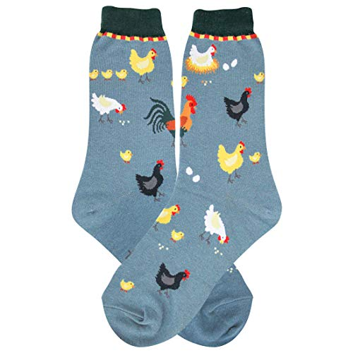 Chicken Feet Slippers (Foot Traffic, Women's Animal-Themed Socks, Chickens (Shoe Sizes)
