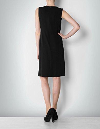 Daniel Hechter Damen Kleid Viskose Dress Unifarben, Größe: 36, Farbe: Schwarz