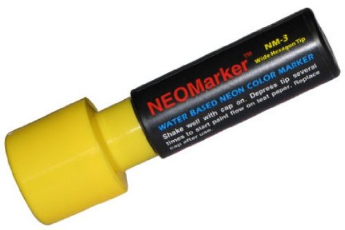 "NEOMarker Extra-Wide 1¼"" Tip Waterproof Glass Marker - Yellow"
