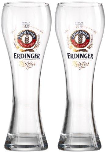 690729 Weizenbierglas Erdinger, 0.5 L, 2-er Set