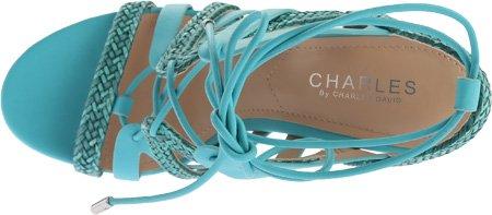 Charles Di Charles David Womens Greensboro Dress Sandal Sea Green