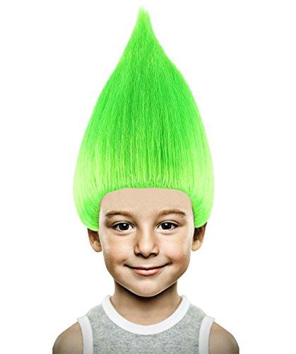 Troll Wig, Neon Green Adult (Green Troll Wig)