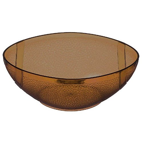 [Amscan Football Frenzy Birthday Party Plastic Bowl (1 Piece), Brown, 3.3 x 5.3