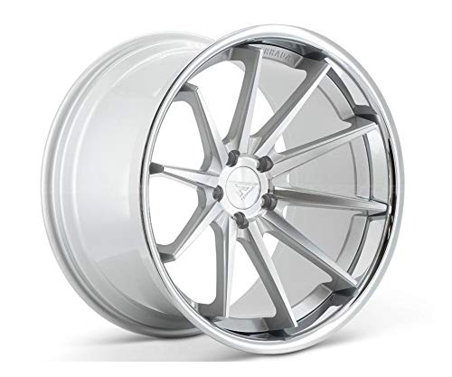 Ferrada Wheels FR4 20x9 5x114 ET35 Machine Silver//Chrome Lip C.B 73.1