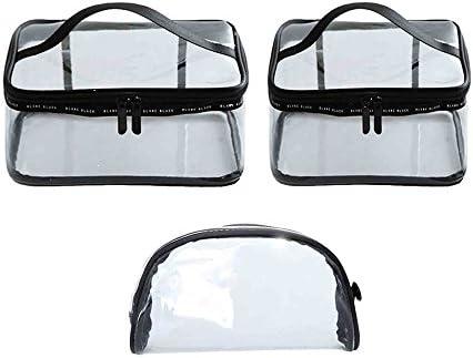 透明 化粧ポーチ トラベルポーチ クリア コンパクト 旅行出張用PVCビニールポーチ 多機能な収納バッグ 小物入れ 3枚セット