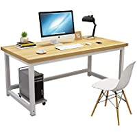 Computer Desk,120cm Large Office Desk Computer Table with 2.5cm Thicker Tabletop Modern Simple Style Table Sturdy…