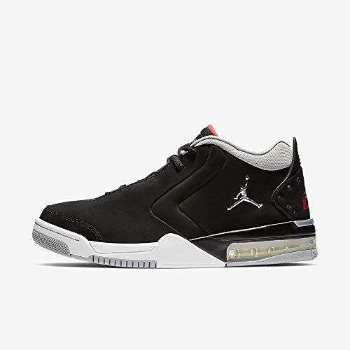 Jordan Nike Men's Big Fund Black/Metallic Silver/White Basketball Shoe 8.5 Men US