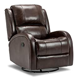 Living Room Bonzy Home Rocker Recliner Chair, PU Leather Glider Recliner Chair, Heavy Duty Home Theater Seating, Fashion Bedroom…