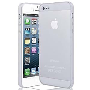Nouveau LOTTIES Funda de silicona transparente para iPhone 5 - Transparente & películas de protección