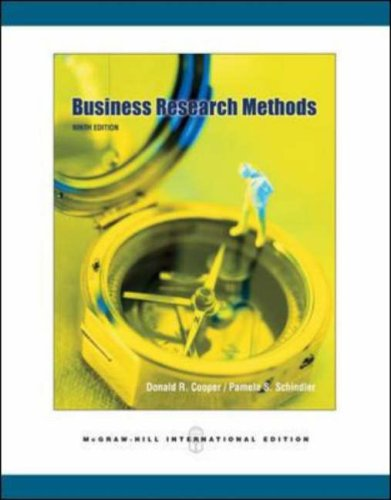 Business Research Methods (McGraw-Hill/Irwin Series. Operation)