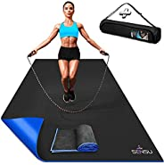 Sensu Large Exercise Mat – 6' x 4' x 8.5mm Extra Thick Workout Mats for Home Gym Flooring - Perfect for Jump R