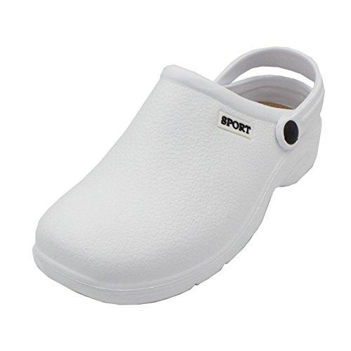 Sport Women's Solid Slingback Garden Clogs Shoes White