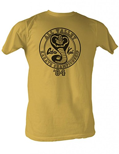Yellow Bold T-shirt - American Classics Men's Karate Kid All Valley '84 T-Shirt, Yellow, X-Large