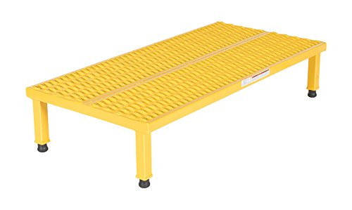 (Vestil AHW-H-2448 Adjustable Work-Mate Stand with Serrated Deck, Steel, 48