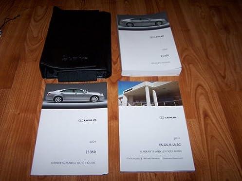 amazon com 2009 lexus es350 es 350 owners manual lexus books rh amazon com lexus es 350 owners manual 2015 lexus es 350 owners manual pdf
