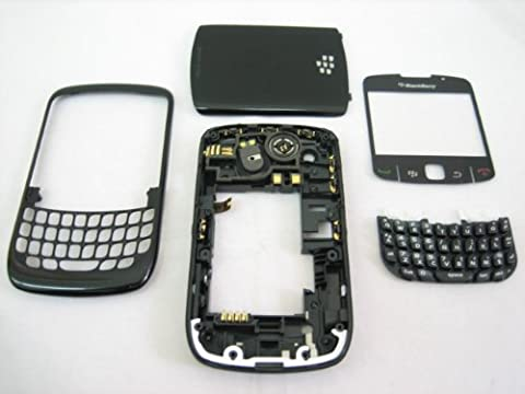 BlackBerry Curve 8520 ~ Original Black Housing Cover Door Case Frame Fascia Plate ~ Mobile Phone Repair Parts (Blackberry 8520 Curve Cover)
