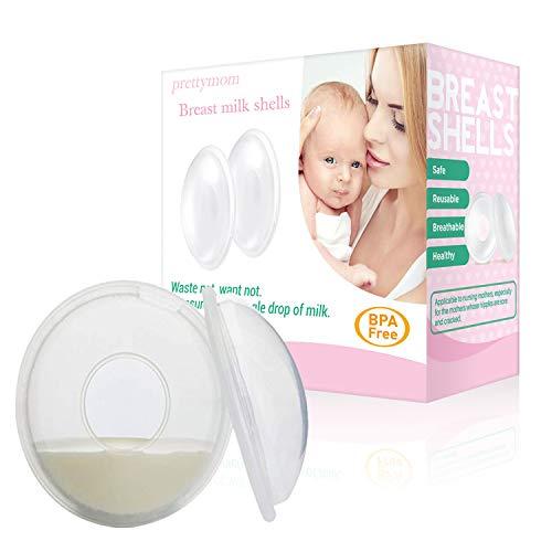 (Breast Shells, Milk Saver, Nursing Cups, Nursing Moms to Ease Nipple Pain, BPA-Free and Reusable, Collect Breast Milk Leak (Pack of)