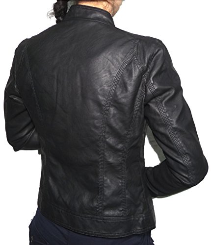 Giubbino Ecopelle Avvitato Giacca Skin Aderente Finta Donna Pelle Giubbotto Corto Giacchetto Ragazza Chiodo Slim qE6wzYq