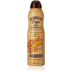 Hawaiian Tropic Sunscreen Silk Hydration Moisturizing Broad Spectrum Sun Care Sunscreen Spray - SPF 15, 6 Ounce