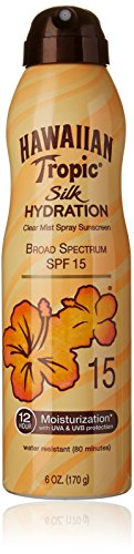 Hawaiian Tropic Sunscreen Silk Hydration Moisturizing Broad Spectrum Sun Care Sunscreen Spray - SPF 15, 6 Ounce
