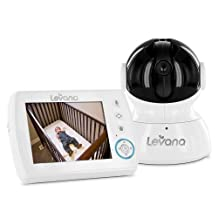 "Levana Astra 3.5"" PTZ Digital Baby Video Monitor with Talk to Baby Intercom (31006)"