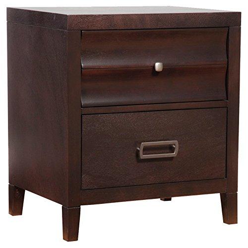 English Mahogany Side Table - Alpine Furniture Legacy 2 Drawer Nightstand