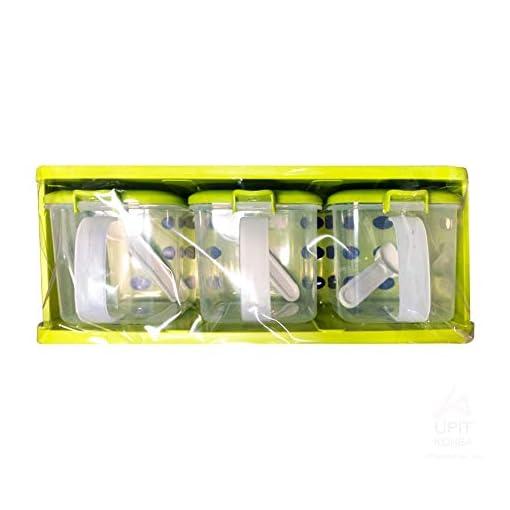 Kitchen UPIT Plastic Spice Rack Seasoning Storage Container Jar 3pcs SET spice racks