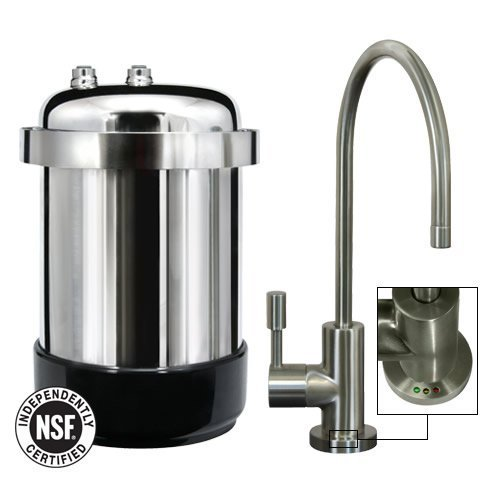 WaterChef® U9000 Premium Under-Sink Water Filtration System (Brushed Nickel Faucet) by WaterChef®