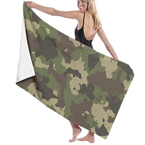 (Woodland Summer Camouflage Beach Towels Ultra Absorbent Microfiber Bath Towel Picnic Mat for Men Women Kids)