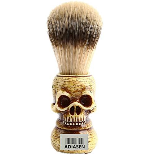 ADIASEN Luxury Skull Badger Shaving Brush For Men,Makeup Brush For Women
