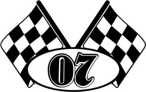 Checkered Flag Nascar Racing Number 07 Graphic Car for sale  Delivered anywhere in USA