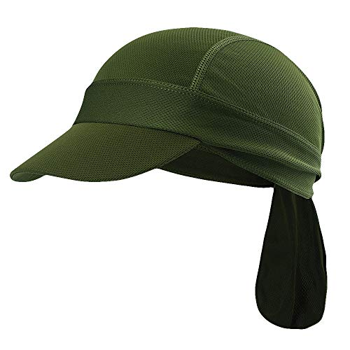 Maoko Skull Caps & Sweat Wicking Cooling Beanie with Brim for Men and Women Army Green