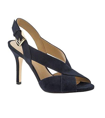MICHAEL Michael Kors Becky Crisscross Slingback Sandal Admiral SZ (Criss Cross Slingback Sandals)