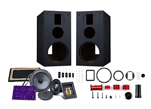 HiVi - DIY 3.1A - 3.1 Bookshelf Speakers - Near-Field Speakers - DIY Speaker Kit - Pair - Black