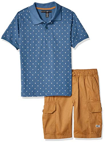 - Beverly Hills Polo Club Boys' Toddler Sleeve top and Short Set, Light Navy Anchor, 2T